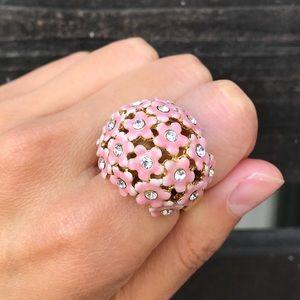 J. Crew Flower Crystal Ring